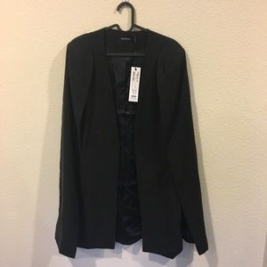 MINKPINK Jackets & Coats - NWT Mink Pink girl boss longline black cape